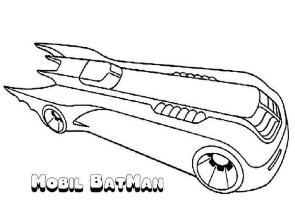 Awesome Batman Mobile Coloring Page