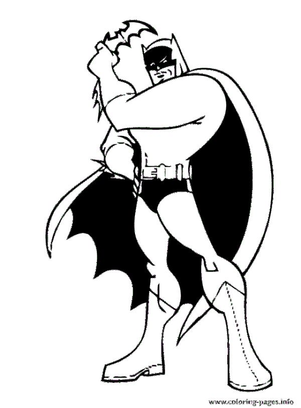 Awesome Batman Posing Coloring Pages Printable