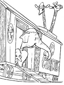Baby Dumbo Coloring Pages