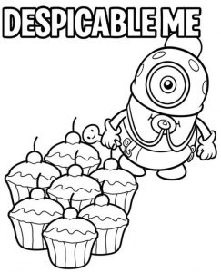 Baby Minion Coloring Page From Despicable Me Movie
