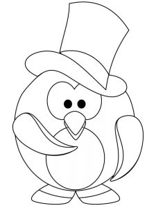 Baby Penguins Coloring Pages