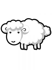 Baby Sheep Coloring Pages