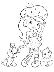 Baby Strawberry Shortcake Coloring Pages
