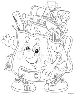 Back To School Bag Coloring Pages Printable