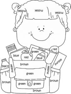 Back To School Coloring Pages For Preschoolers