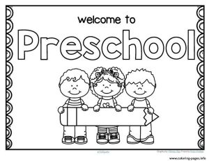 Back To School Preschool Coloring Pages Printable
