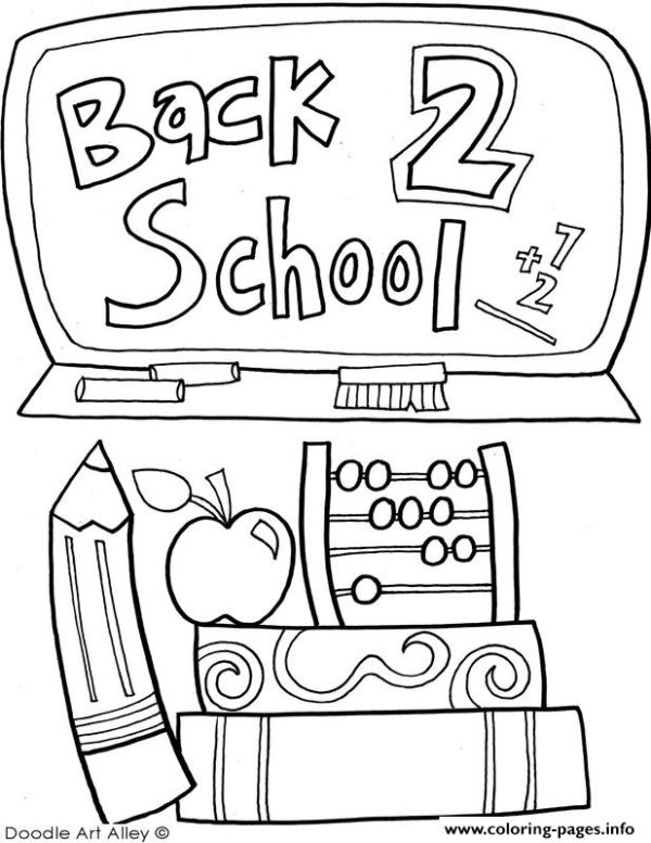 Back To School September Coloring Pages Printable