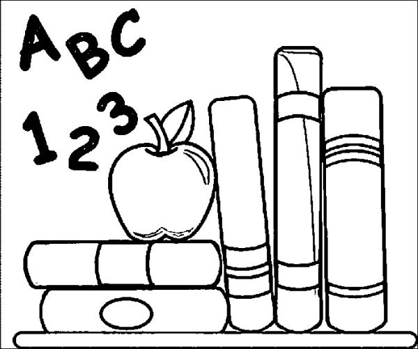 Back to school from school coloring pages