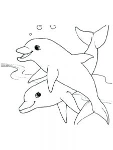 Barbie And Dolphin Coloring Pages