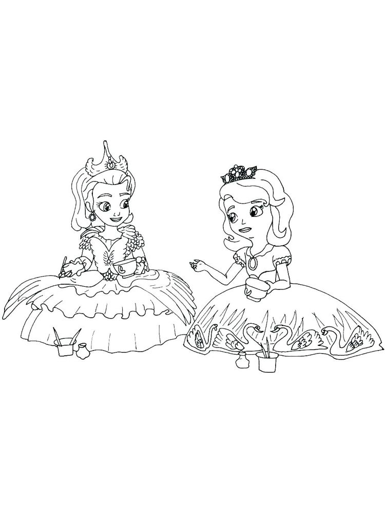 Barbie And The 12 Dancing Princesses Coloring Pages Printable