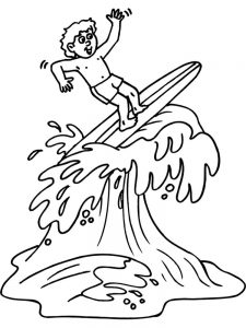 Barbie At The Beach Coloring Pages