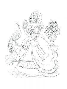Barbie Princesses Coloring Pages