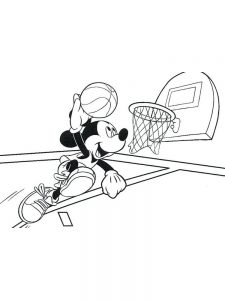 Basketball And Hoop Coloring Page