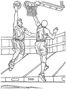 Basketball Backboard Coloring Page