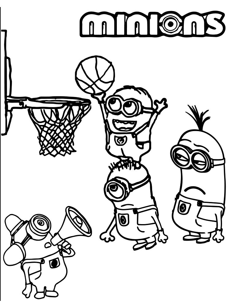 Basketball Coloring Pages Easy