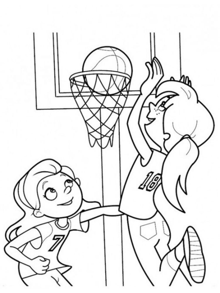 Basketball Coloring Pages Images