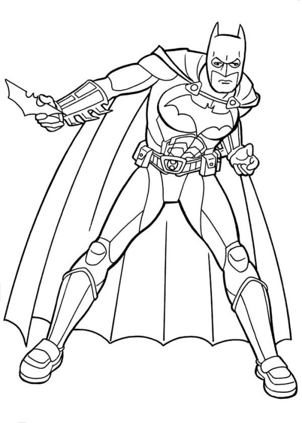 Batman And Awesome Equipment Coloring Page