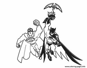 Batman And Superman For Print Coloring Pages Printable