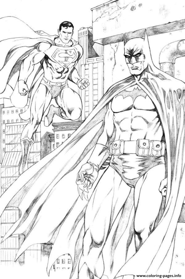 Batman And Superman For Print Free Coloring Pages Printable