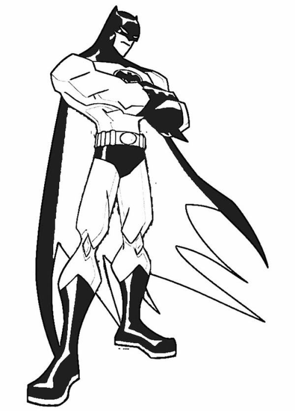Batman Is Standing Still Coloring Page
