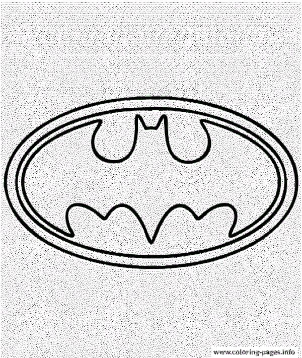 Batman Logo Symbol Coloring Pages Printable