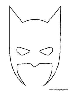 Batman Mask Halloween Stencil Coloring Pages Printable