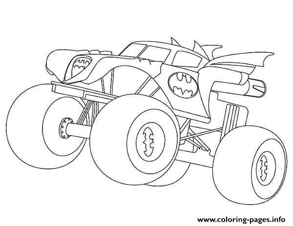 Batman Monster Truck Coloring Pages Printable