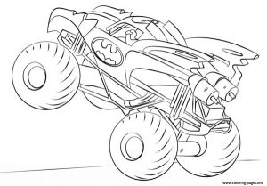 Batman Monster Truck Hd Coloring Pages Printable