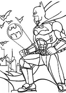 Batman Saw Bat Sign Is On Coloring Page