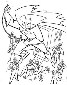 Batman To The Rescue Coloring Page