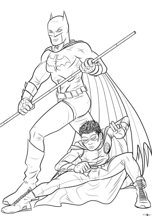 Batman and robin coloring pages to download
