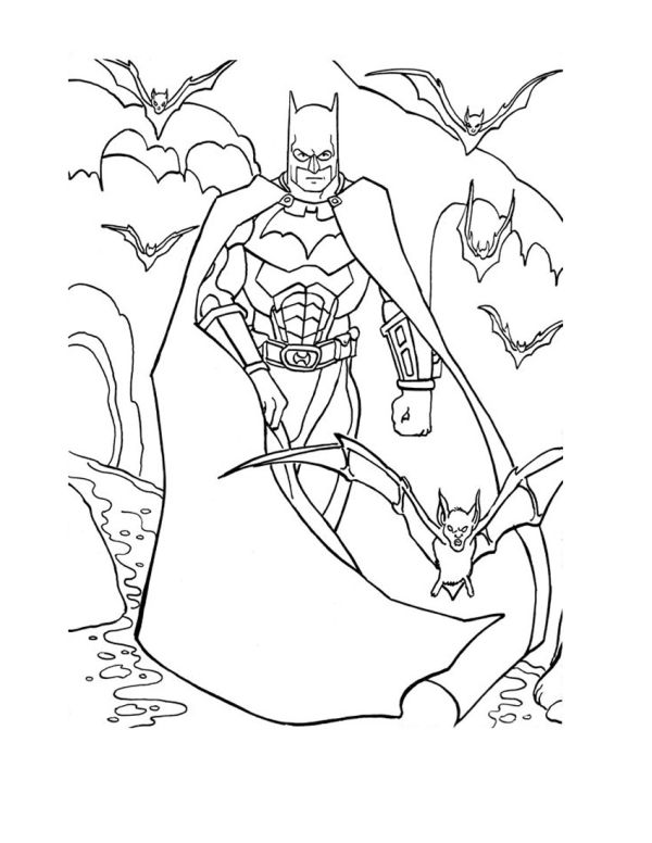 Batman colouring Page