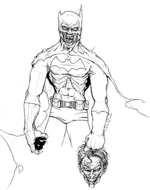 Batman kill joker coloring pages