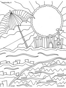 Beach Ball Coloring Pages Images