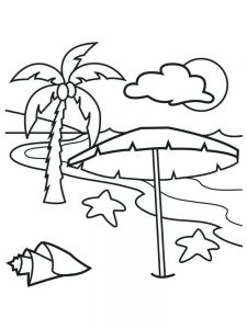 Beach Sand Castle Coloring Pages