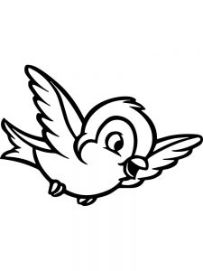 Beautiful Bird Coloring Pages