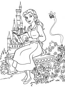 Beauty And The Beast Characters Coloring Pages