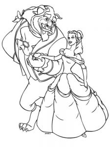 Beauty And The Beast Coloring Book Pages
