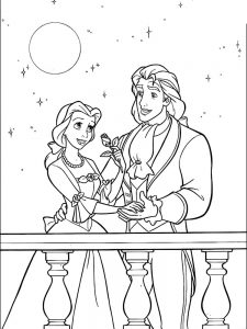 Beauty And The Beast Coloring Pages Disney