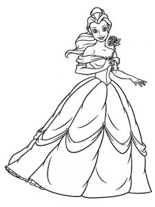 Beauty And The Beast Colouring Pages To Print