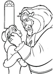 Beauty And The Beast Drawing Coloring Pages
