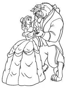 Beauty And The Beast Enchanted Rose Coloring Page