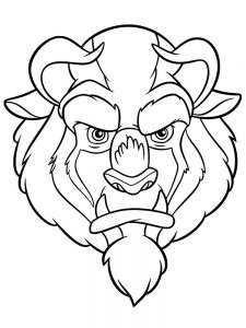 Beauty And The Beast Stained Glass Rose Coloring Page