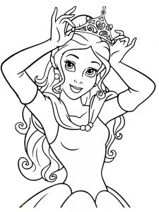 Beauty In The Beast Coloring Pages