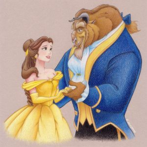 Printable Beauty and The Beast Coloring Pages