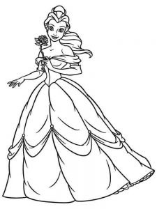Belle Coloring Pages Easy