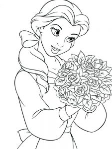 Belle Coloring Pages Free