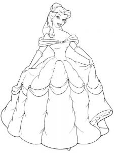 Belle Coloring Pages To Print