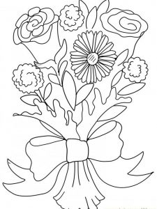 Belle Rose Coloring Page