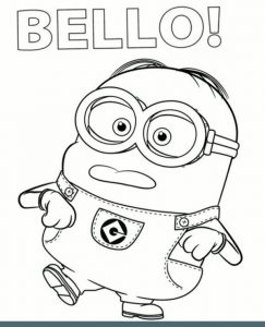 Bello Clumsy Minion To Color To Print For Free